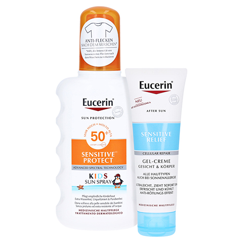 Eucerin Kids Sun Spray LSF 50+ + gratis Eucerin After Sun 50 ml 200 Milliliter
