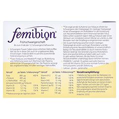 Femibion 1 Frühschwangerschaft 30 Stück - Rückseite