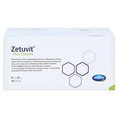 ZETUVIT Plus Silicone steril 8x8 cm 10 Stück - Unterseite