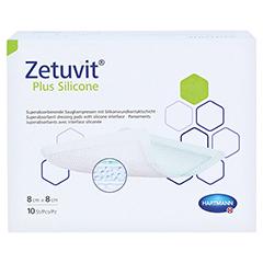 ZETUVIT Plus Silicone steril 8x8 cm 10 Stück - Vorderseite
