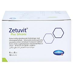 ZETUVIT Plus Silicone steril 8x8 cm 10 Stück - Rechte Seite