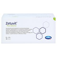 ZETUVIT Plus Silicone steril 8x8 cm 10 Stück - Oberseite