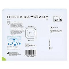 ZETUVIT Plus Silicone steril 8x8 cm 10 Stück - Rückseite