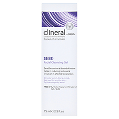 CLINERAL Facial Cleansing Gel 75 Milliliter - Rückseite