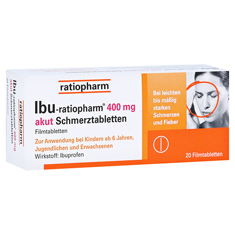 IBU-ratiopharm 400 akut Schmerztabletten 20 Stück