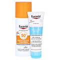Eucerin Sun Creme getönt hell LSF 50+ + gratis Eucerin After Sun 50 ml 50 Milliliter