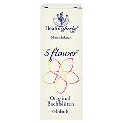 BACH KOMBINATION 5 Flow.Notfall Globuli Heal.Herbs 15 Gramm - Vorderseite