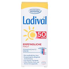 LADIVAL empfindliche Haut Creme LSF 50 50 Milliliter - Vorderseite