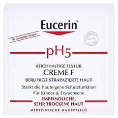 EUCERIN pH5 Creme F empfindliche Haut 75 Milliliter - Vorderseite