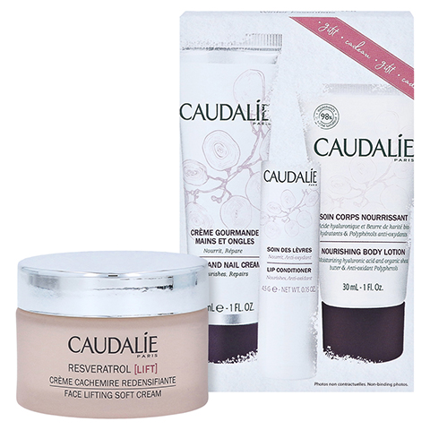 CAUDALIE Resveratrol Lift Kaschmir Creme + gratis Caudalie Winter Essentials Kit 50 Milliliter