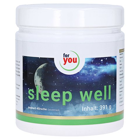 FOR YOU sleep well Drink Joghurt-Kirsche Pulver 391 Gramm