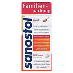 SANOSTOL Saft + gratis sanostol Drachen-Schmatz 50g 780 Milliliter - Rückseite