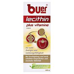 BUER LECITHIN Plus Vitamine flüssig 500 Milliliter - Vorderseite