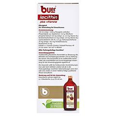 BUER LECITHIN Plus Vitamine flüssig 500 Milliliter - Rückseite