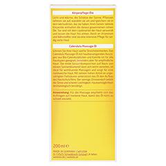 WELEDA Calendula Massageöl 200 Milliliter - Rückseite