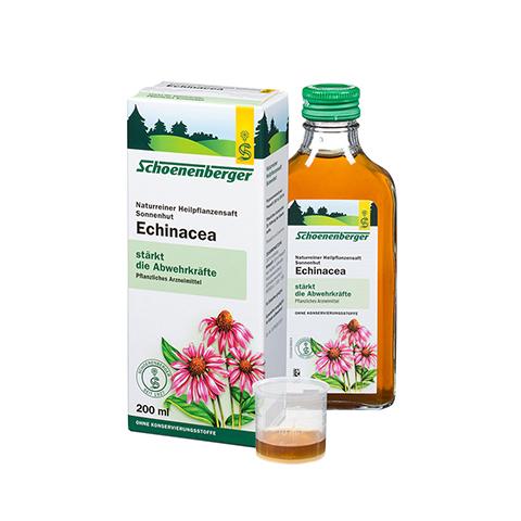 Echinacea naturreiner Heilpflanzensaft Schoenenberger 200 Milliliter
