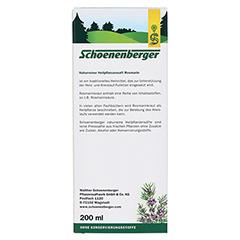 ROSMARIN HEILPFLANZENSÄFTE Schoenenberger 200 Milliliter - Rückseite