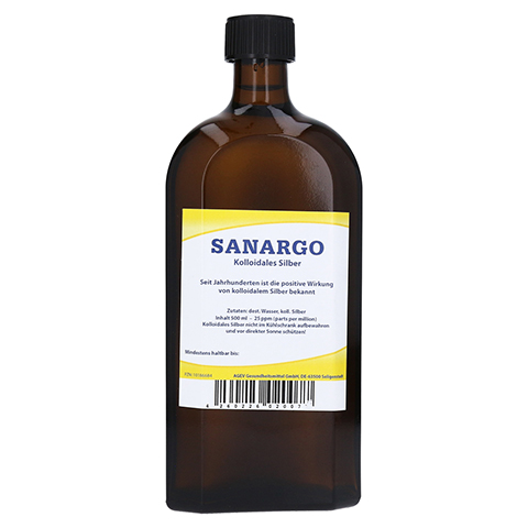 SANARGO kolloidales Silber Flaschen 500 Milliliter