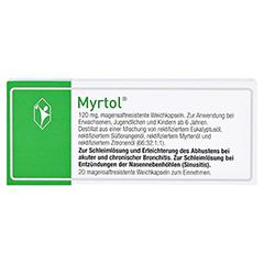 MYRTOL magensaftresistente Weichkapseln 20 Stück N1 - Rückseite