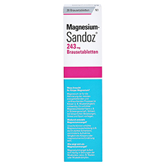 Magnesium-Sandoz 243mg 20 Stück N1 - Rückseite