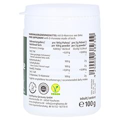 NATURAL D-Mannose Powder 100 Gramm - Rechte Seite