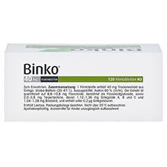 Binko 40mg 120 Stück N3 - Oberseite