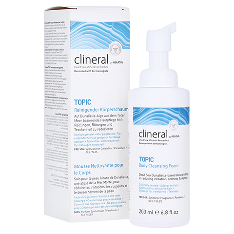 CLINERAL TOPIC Body Cleansing Foam 200 Milliliter