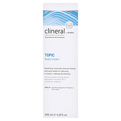 CLINERAL TOPIC Body Cream 200 Milliliter - Rückseite