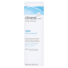 CLINERAL TOPIC Shower & Bath Oil 250 Milliliter - Rückseite