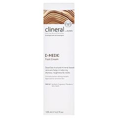 CLINERAL D-MEDIC Foot Cream 125 Milliliter - Rückseite