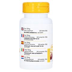 ZINK 15 mg Tabletten 250 Stück - Rechte Seite