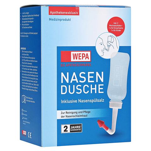 WEPA Nasendusche mit 10x2,95 g Nasenspülsalz 1 Packung