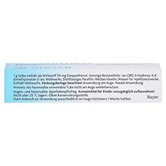 Bepanthen Augen- und Nasensalbe 10 Gramm N3 - Oberseite