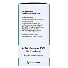 Antiscabiosum 25% 200 Gramm N3 - Linke Seite
