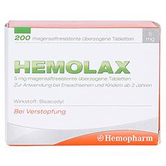 Hemolax 5mg 200 Stück - Vorderseite