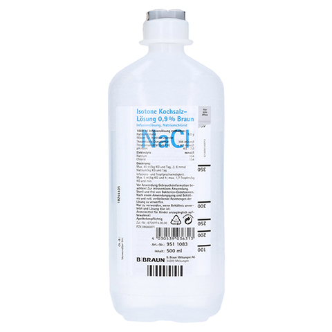 ISOTONE Kochsalz-Lösung 0,9% Braun Ecoflac Plus 500 Milliliter N1