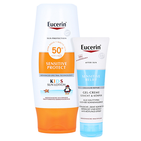 Eucerin Kids Sun Lotion LSF 50+ + gratis Eucerin After Sun 50 ml 150 Milliliter