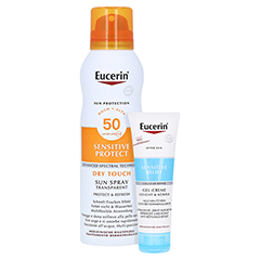 Eucerin Sun Spray Dry Touch LSF 50 + gratis Eucerin After Sun 50 ml 200 Milliliter