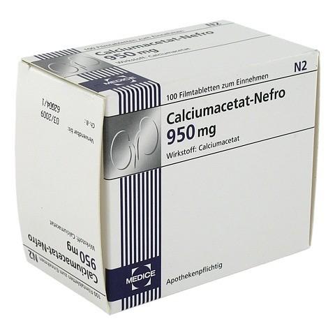 Calciumacetat Nefro 950 mg Filmtabletten 100 St�ck N2