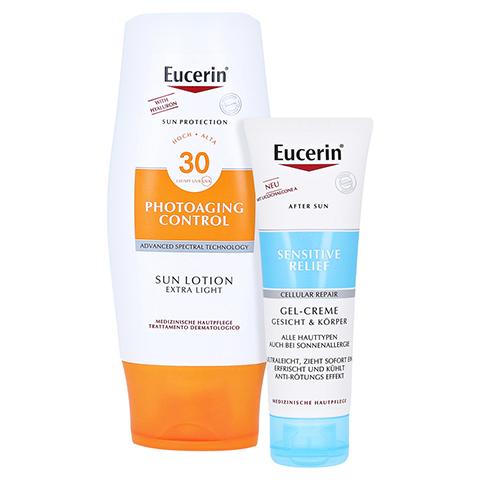 EUCERIN Sun Lotion PhotoAging Control LSF 30 + gratis Eucerin After Sun 50 ml 150 Milliliter