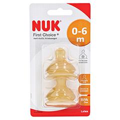 NUK First Choice+ Trinksauger Latex Gr.1 S 2 Stück