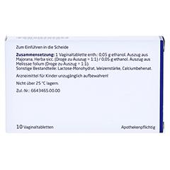MAJORANA/MELISSA Vaginaltabletten 10 Stück N1 - Rückseite