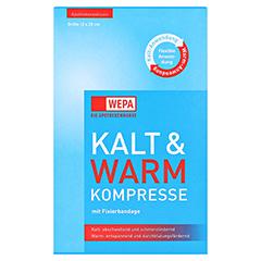 Kalt-warm Kompresse 12x29 cm mit Fixierbandage 1 Stück - Vorderseite