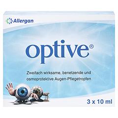 OPTIVE Augentropfen 3x10 Milliliter - Vorderseite