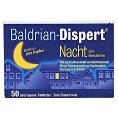 Baldrian-Dispert Nacht zum Einschlafen 50 Stück - Vorderseite