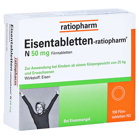 Eisentabletten-ratiopharm N 50mg 100 Stück N3