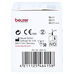 Beurer Gl44/gl50 Teststreifen 50 Stück - Rechte Seite