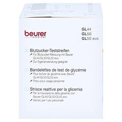 Beurer Gl44/gl50 Teststreifen 50 Stück - Linke Seite