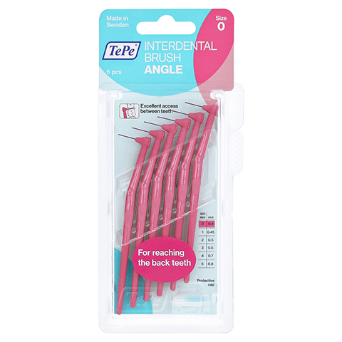TEPE Angle Interdentalbürste 0,4mm pink 6 Stück
