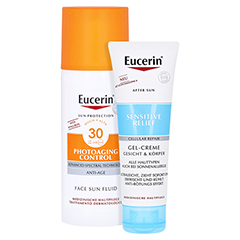 Eucerin Sun Photoaging Control Face Fluid LSF 30 + gratis Eucerin After Sun 50 ml 50 Milliliter